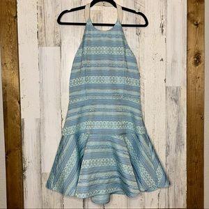 Parker halter dress drop waist fit and flare